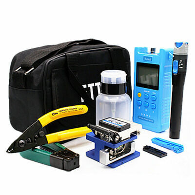 Fiber Optic Ftth Tools Kit Fiber Cleaver Optical Power Meter Clauss Strippers