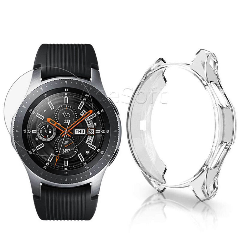 Anti-Scratch Screen Protector and Soft Case Cover for Samsung Galaxy Watch 46mm