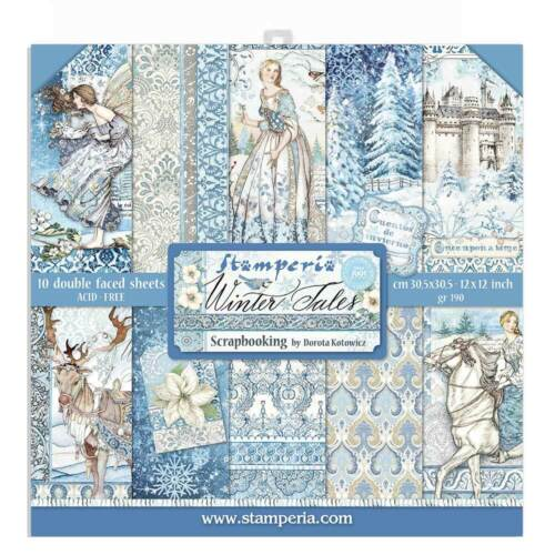 Stamperia - WINTER TALES - 12x12 Double Faced Paper 10 Sheets + Bonus #SBBL76