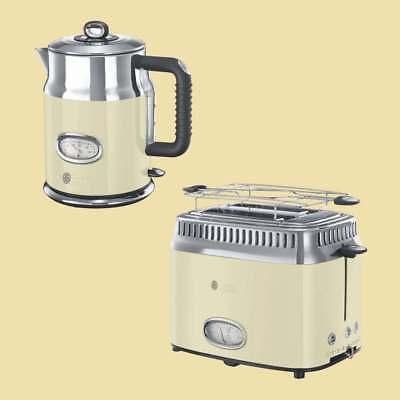 Russell Hobbs Retro Vintage Cream Set - Wasserkocher 21672-70 + Toaster 21682-56