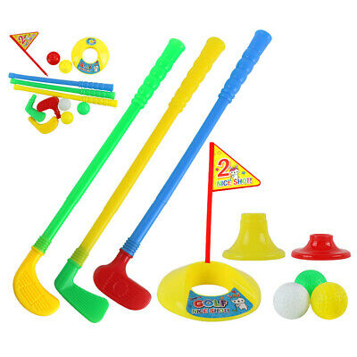 Children Mini Leisure Golf Club Set Outdoor Indoor Safe Practice Kid Plastic Toy