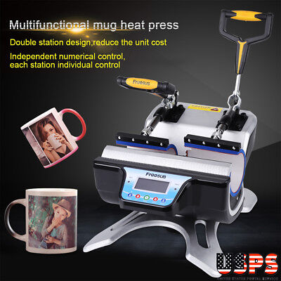 110v Digital Double Station Mug Heat Press 11oz St-210 Sublimation Machine Us