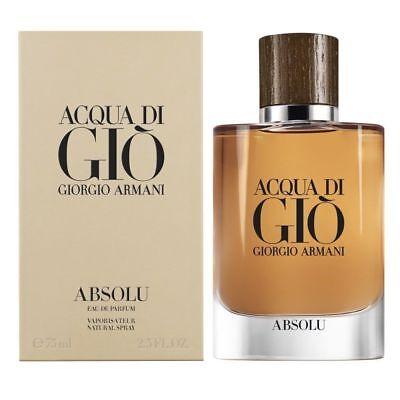 GIORGIO ARMANI ACQUA DI GIO ABSOLU 75ML EDP SPRAY FOR MEN BRAND NEW & SEALED