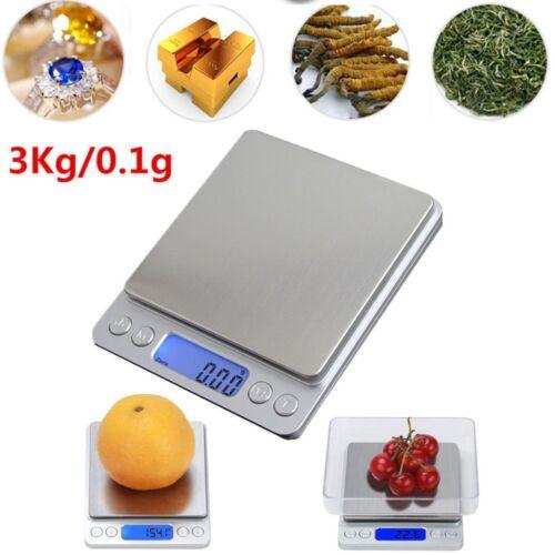 Balance de Cuisine Électronique 3kg 3000g/0.1g scale Numérique Haute Précision 2