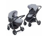 Chicco urban travel system. Carseat, converts to moses basket and buggy style forward &back facing.