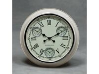 Cream with White Face Edinburgh Multi Dial Wall Clock