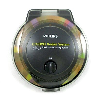 Phillips CD/DVD, Blu-Ray Disc Radial Disc Cleaner Multi-Purpose Cleaning System!