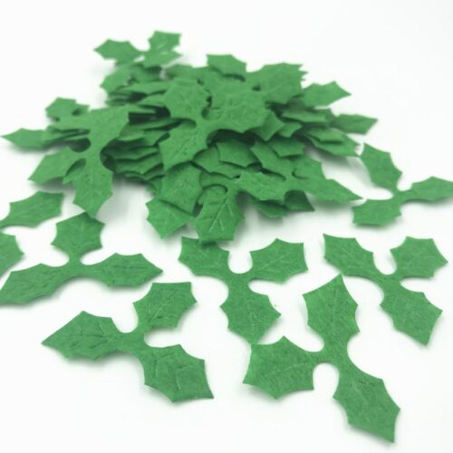 Last Christmas As A Miss 2020 Wedding Christmas Jumper: NEW 200pcs Green Holly Leaves Felt Appliques For Christmas