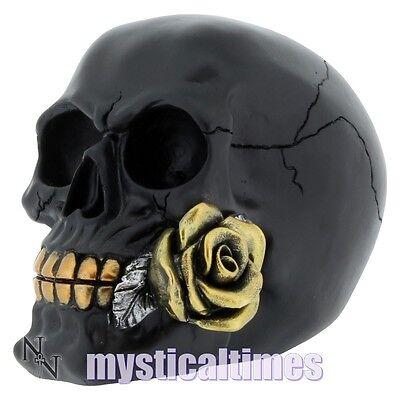 NEW * ROSE FROM THE DEAD *  BLACK SKULL SKELETON GOTHIC NEMESIS ORNAMENT