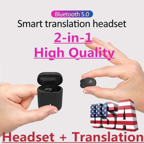 Peiko Smart Wireless Bluetooth Headset - Real-Time Voice Translator 33 Languages