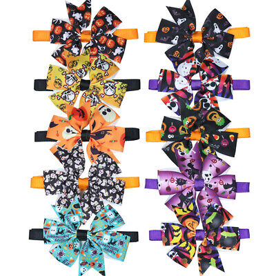 New Halloween Dog Cat Bow Tie Bowtie Mix Patterns adjustable Dog Accessories](Cat Accessories Halloween)