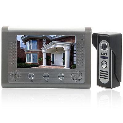 "7"" Wired Video Door Phone Doorbell Intercom Night Vision Camera Home Security US"