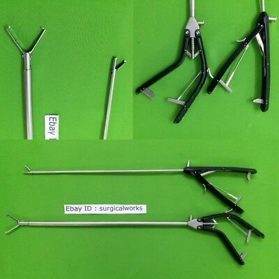 Needle Holder V Type 10mm Tenaculam Gun Type 5mm Self Riding Jaw Laparoscopic-2p