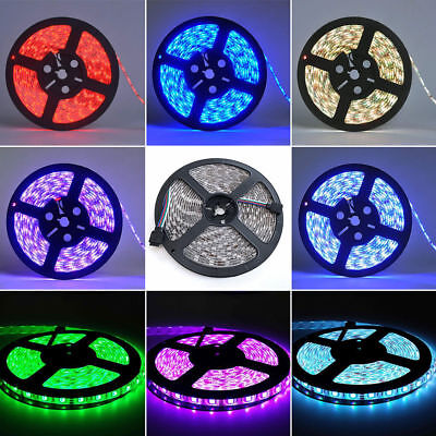 Flexible 16.4ft 5M LED Strip Lights 12V 5050 for Room Kitchen Party Car Decor