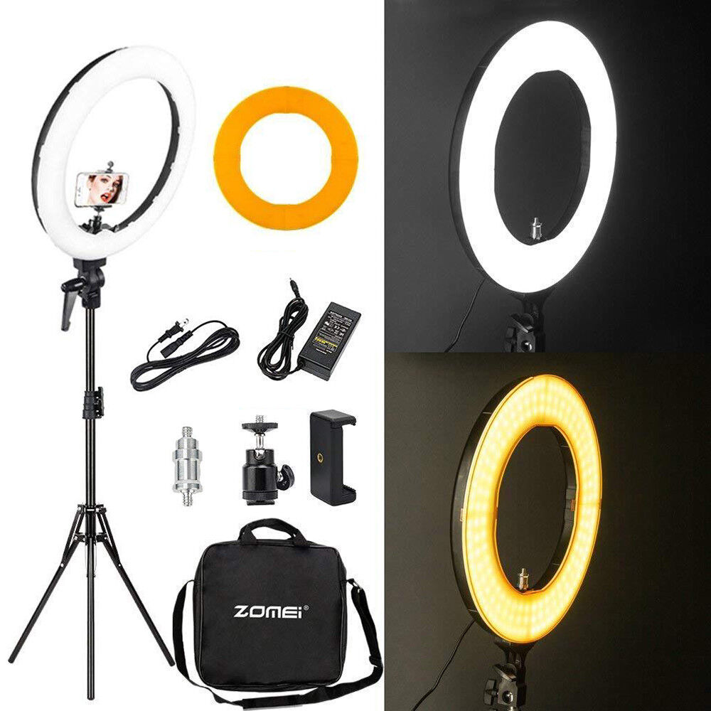 """18"""" LED SMD Ring Light Kit with Stand Dimmable 5500K for Makeup Phone Camera -   10 - 18″ LED SMD Ring Light Kit with Stand Dimmable 5500K for Makeup Phone Camera"""
