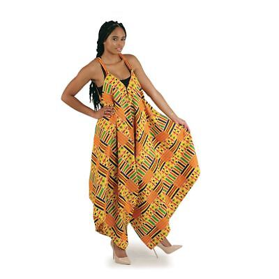 African Traditional Kente Women's Jumpsuit Dress Clothing #1 ( Multi Color ) Multi Wear Dress