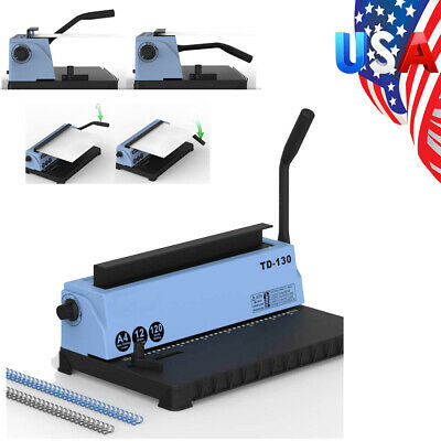 Fda 34 Holes Steel Metal Spiral Coil 34holes Punching Binding Machine Usa Stock