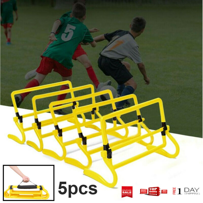 5pcs Fitness Adjustable Barrier Football Soccer Agility Spee