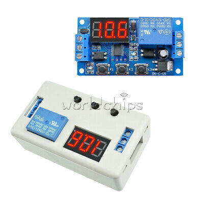 12v Digital Led Display Delay Timer Control Switch Automation Relay Board Module