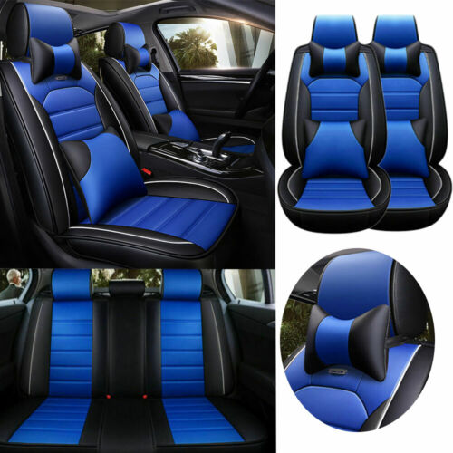 PU Leather Car Seat Covers 5-St SUV Cushion Front Rear Car Accessories Universal