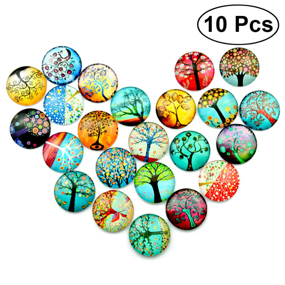 10pcs Glass Mixed 12mm Mosaic Supplies Crystal Tiles for Jewelry Making Decor