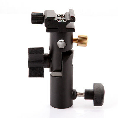 E-Type Studio Flash Cold Shoe Light Stand 180°Swivel Bracket Umbrella Holder US ()