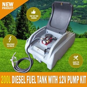 NEW Xtreme 200 Litre Diesel Fuel Tank With 12 -70lpm Pump Kit Lockable Lid