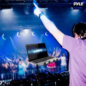PYLE PLPTS55 Universal DJ Laptop Stand, Portable,  Foldable,  Telescoping Height with Carry Case