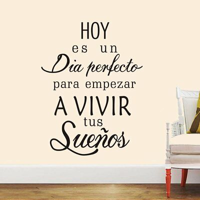Country Style Home Decorating Ideas Boodecal Spanish Quote Wall Decals Hoy Es Un Dia Empezar A Vivir Tus Suenos Peel Modern Accessories For Home Decor