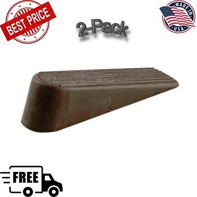 Rubber Door Stop / Doors Stopper 2 Pack - Heavy Duty, Brown, Reduce Scratches