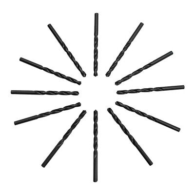 Straight Shank Drilling 12pc 6.4mm Hss Black Oxide Jobber Length Twist Drill Set