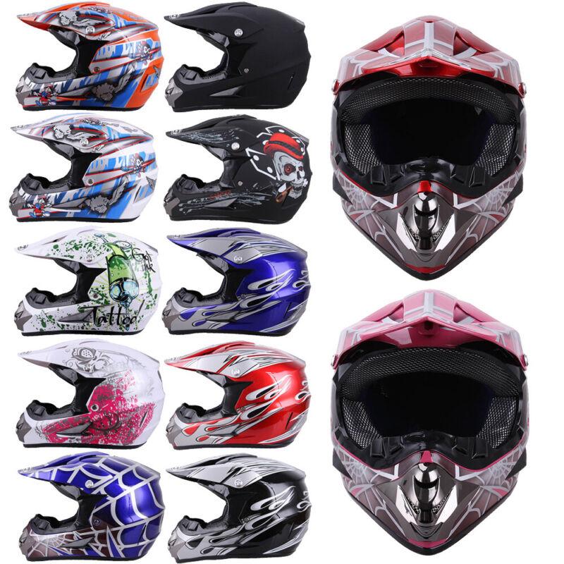 Motorcycle DOT Adult Youth Dirt Bike ATV Motocross Helmet Mask Gloves Goggles US
