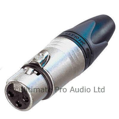 Neutrik Female XLR Audio Connector NC3FXX 3 Pin Pole Nickel Body