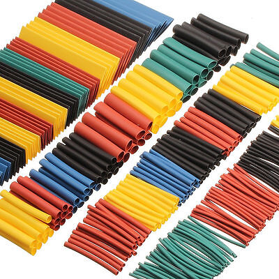 260x Assortment 21 Heat Shrink Tubing Tube Sleeving Wrap Wire Cable Kit Set