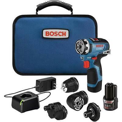 Bosch Gsr12v-300fcb22 12v Max Brushless Flexiclick 5-in-1 Drilldriver Kit