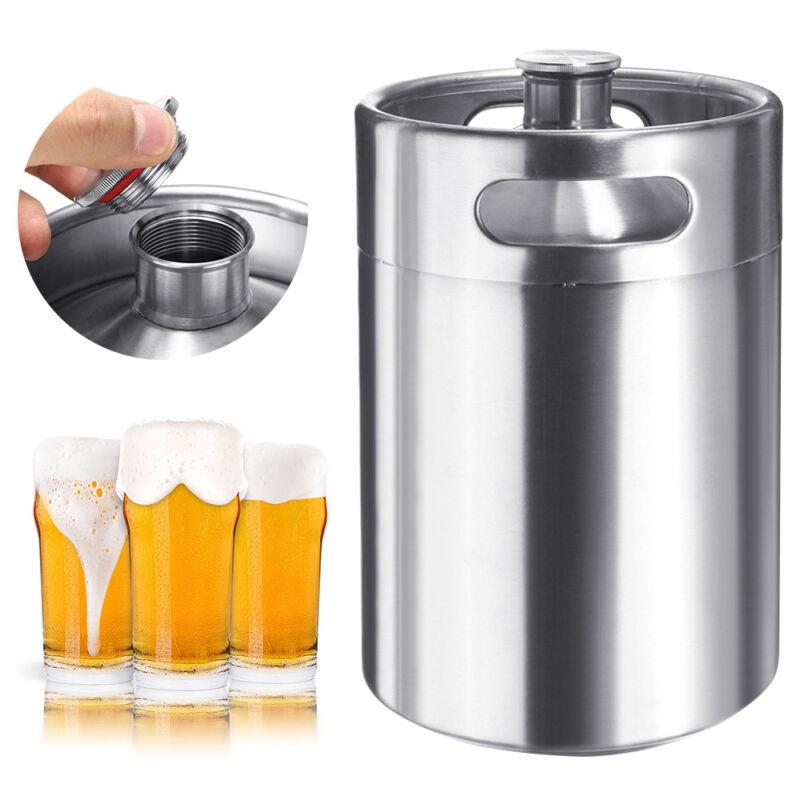 5L Stainless Steel Beer Barrel Keg Bottle Homebrew Growler Brew Portable 170 OZ