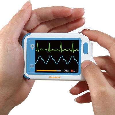 Portable Ekg Monitor Usb Rechargeable Heart Cardiac Detector With Pc Software