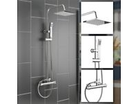Cube Plus Thermostatic Rain Shower with Diverter
