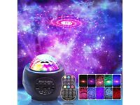 LED Night Light Projector, 3 in 1 LED Galaxy Starry Light Projector for Bedroom, Ocean Wave