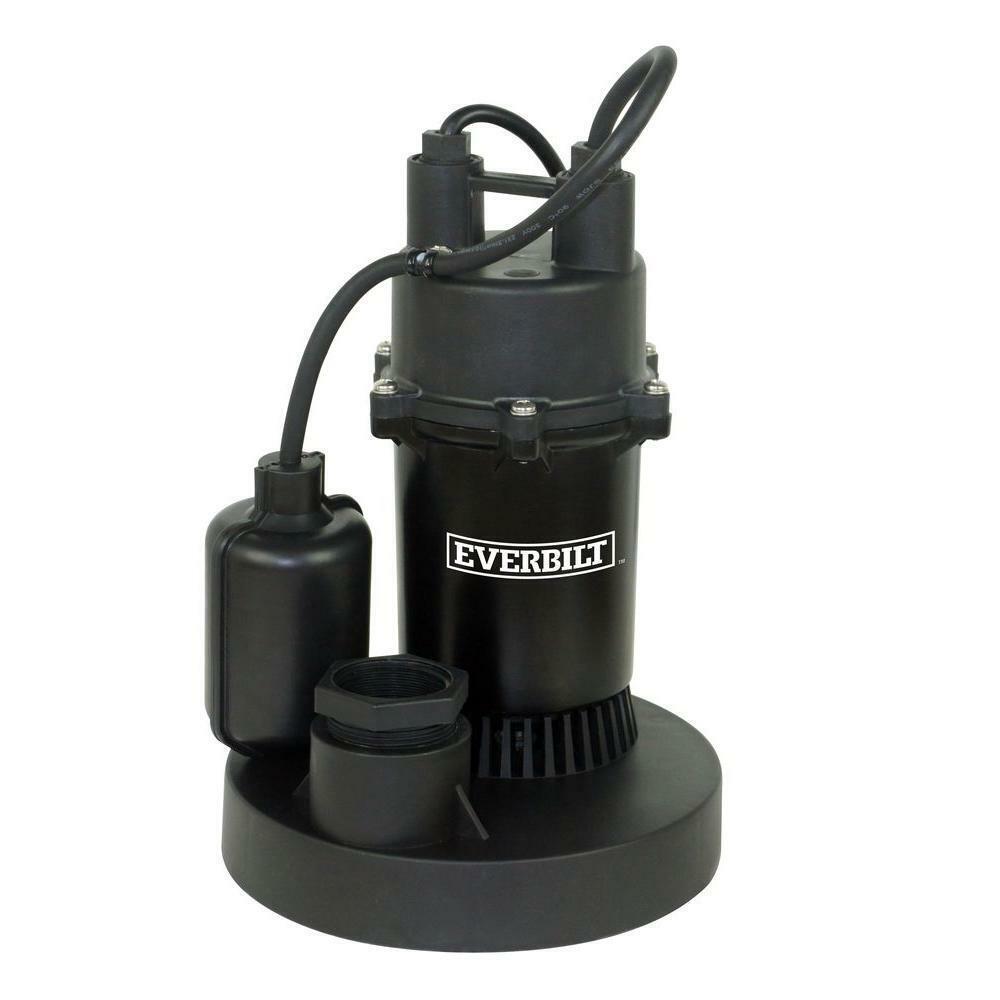 Everbilt 1/3 HP Aluminum Submersible Sump Pump with Tether M