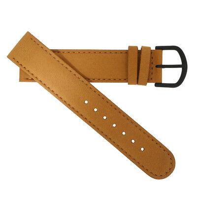 WatchPeople Uhrenarmband Leder hellbraun 18 mm