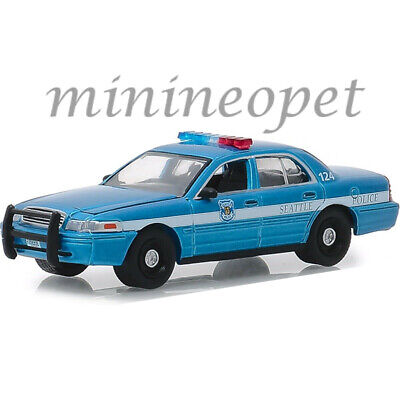 GREENLIGHT 42880 D 2010 FORD CROWN VICTORIA POLICE CAR 1/64 DIECAST BLUE