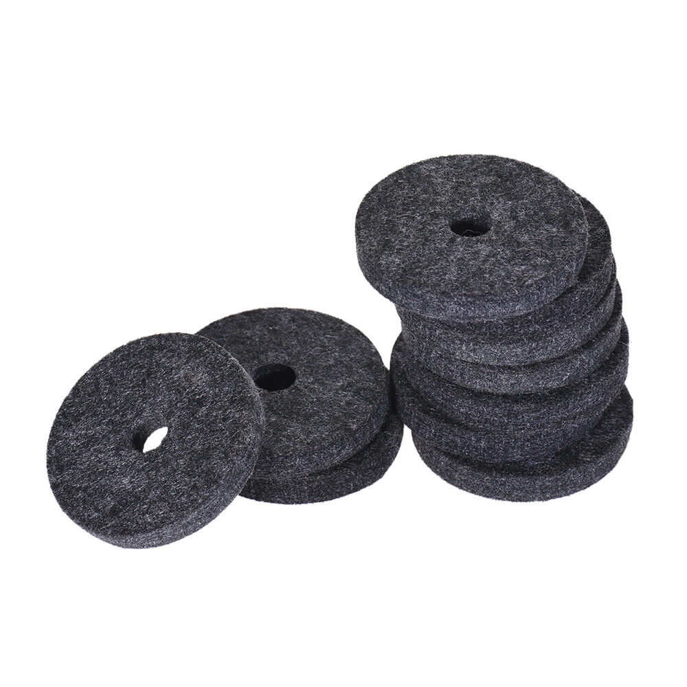 10 x Black Strap Button Felt Washer for guitars and basses