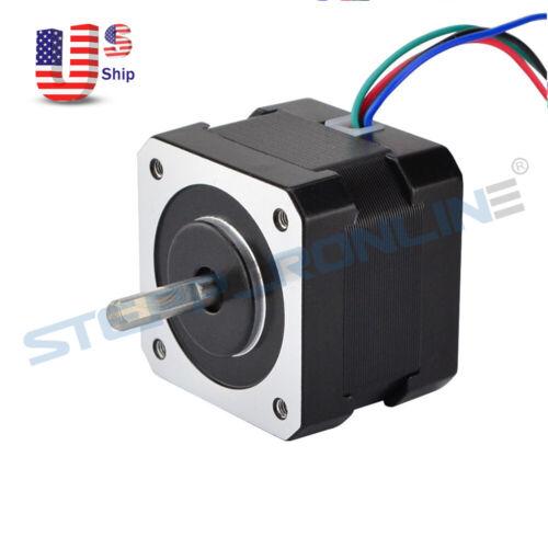 STEPPERONLINE Nema 17 Stepper Motor 26Ncm 12V 0.4A 34mm for 3D Printer Extruder
