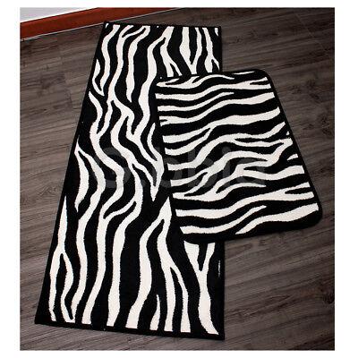 Zebra Bath Rugs - [110x45][60x40]cm 1Pcs Zebra pattern Kitchen Bath Mat Floor mat Door Foot Rug