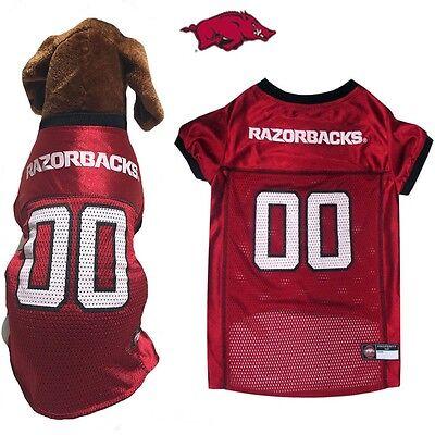 NCAA Pet Fan Gear ARKANSAS RAZORBACKS Jersey Shirt Tank for Dog Dogs -