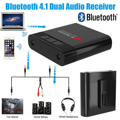 Bluetooth Audio Empfänger Dual 3,5mm Output Wireless Receiver Adapter Stereo AUX