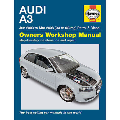 Audi A3 1.6 2.0 Petrol 1.9 2.0 Diesel 03-08 (03-08 Reg) Haynes Workshop Manual