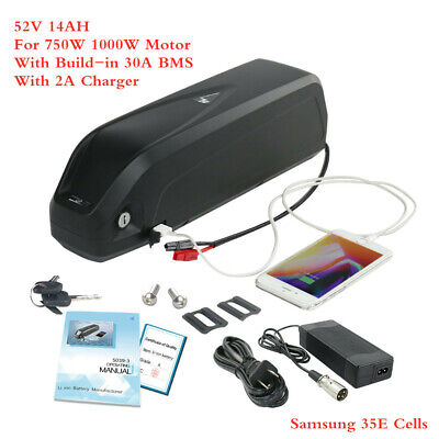 52V 14Ah Hailong 3 Lithium Ebike Battery for 1000W Electric Bicycle Samsung Cell