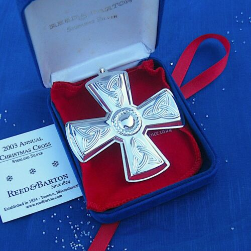 NEW • Reed & Barton 2003 CHRISTMAS CROSS Sterling Silver Ornament 33rd Edition